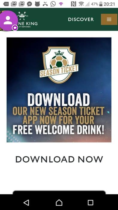 Free drink at Greene King pubs