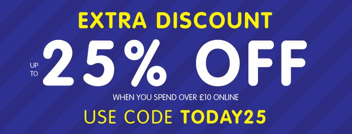 Extra 25% off £10 Spend