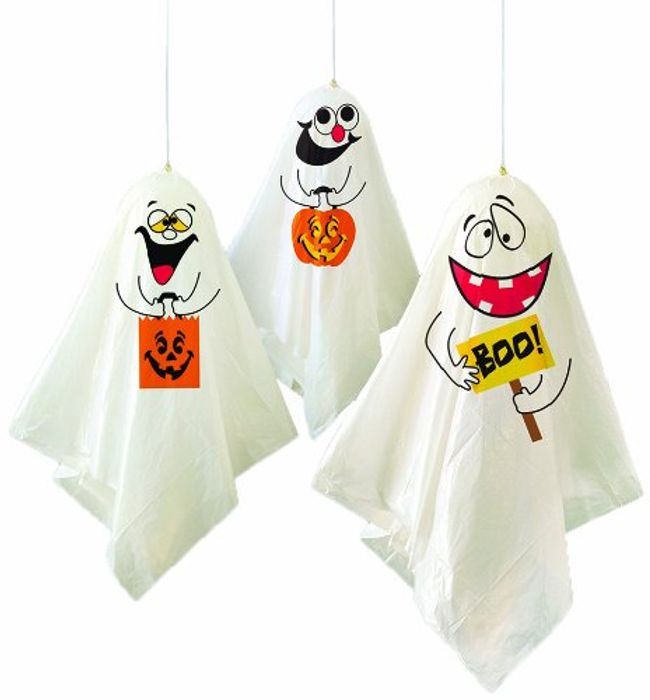 Ghost Halloween Hanging Decorations, Pack of 3