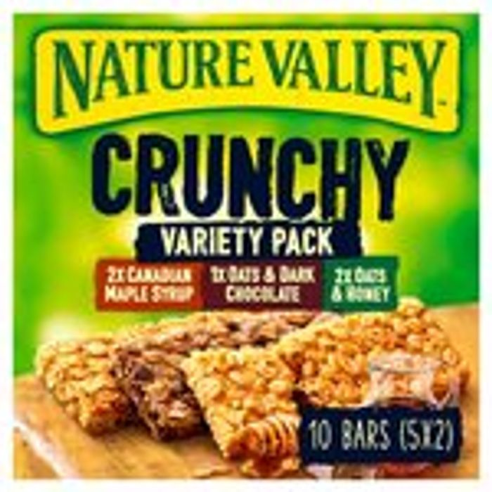 Nature Valley Crunchy Cereal Bars 5 X 42g (4 Varieties)