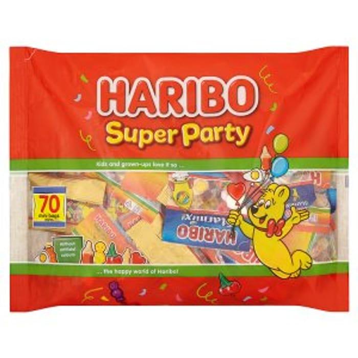 Great Value HARIBO Super Party Bag 70 Mini Bags