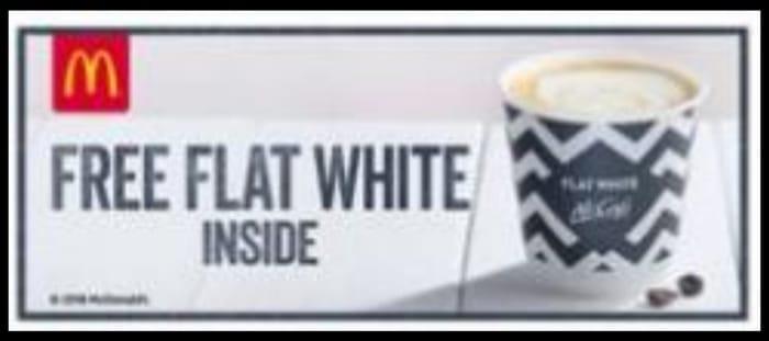 Free McDonald's Flat White in Today's Metro
