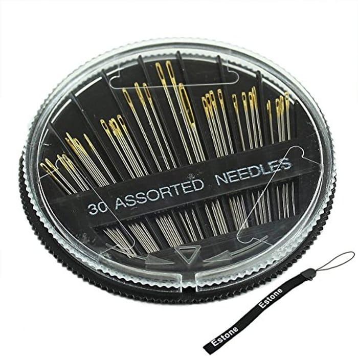30PCS LARGE EYE Assorted Hand Sewing Needles
