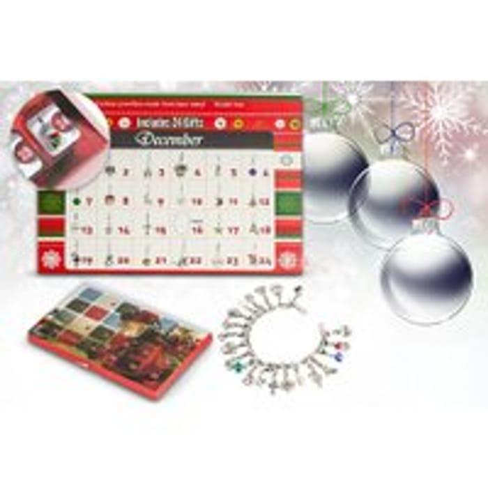 Luxury Jewellery Advent Calendar 22 Unique Charms! Bracelet and Necklace