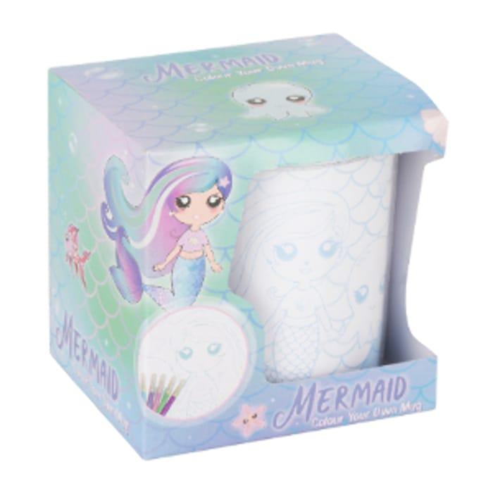Colour Your Own Mermaid Unicorn Mug