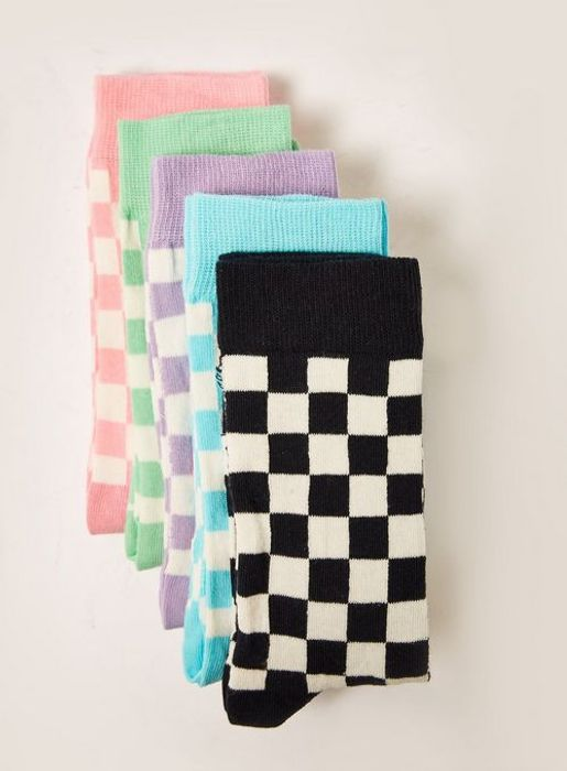 Checkerboard Socks 5 Pack Now £3.60 Using Code