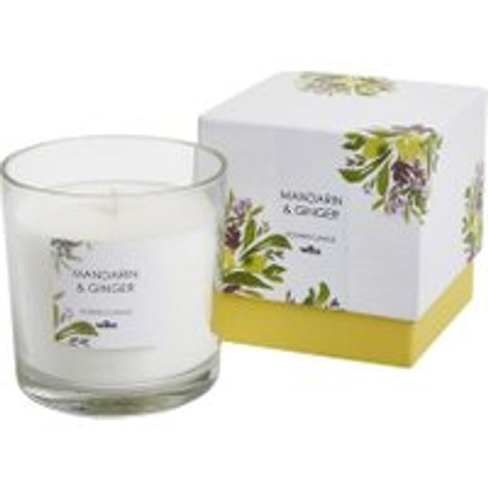 Wilko Boxed Glass Candle Mandarin and Ginger Free C&C