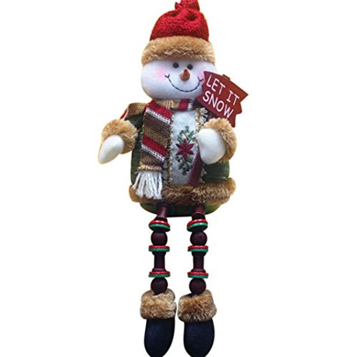 Covermason Christmas Decorations Santa Claus Sitting Porcelain Snowman
