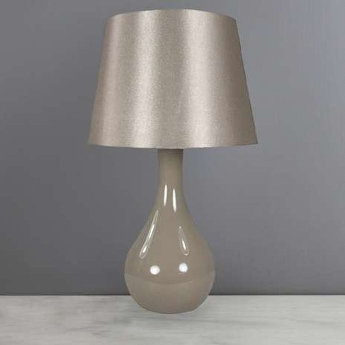 Great Value Ruby Gloss Champagne Table Lamp Free C&C