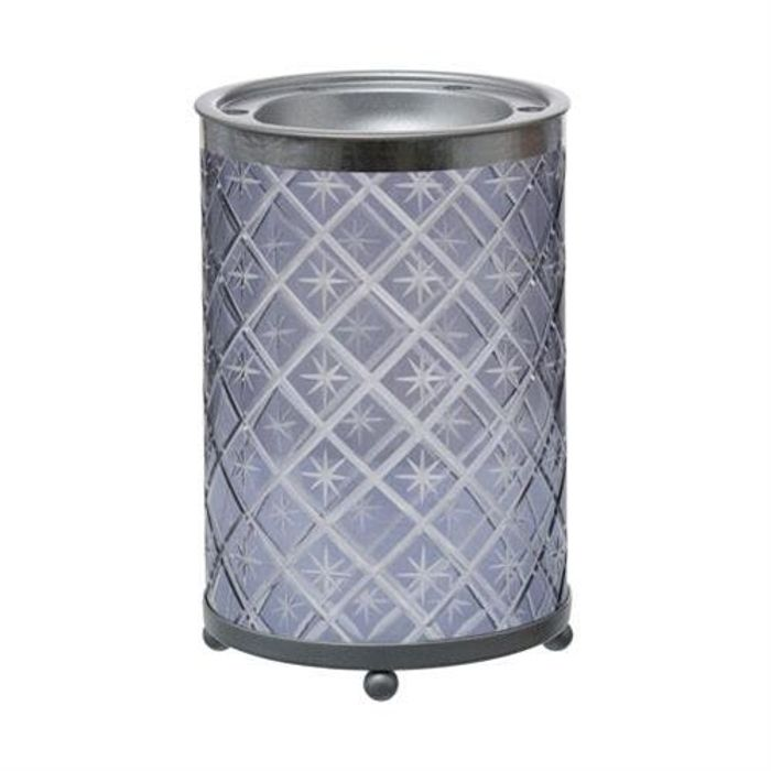 Yankee Candle Winter Accessories - Grey Etched Star (Melt Warmer / Tart Burner)