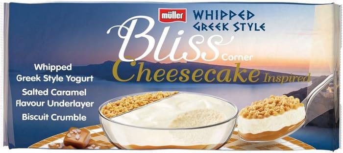 Half Price Muller Corner Bliss Cheesecake Inspired Salted Caramel Whipped Yogurt