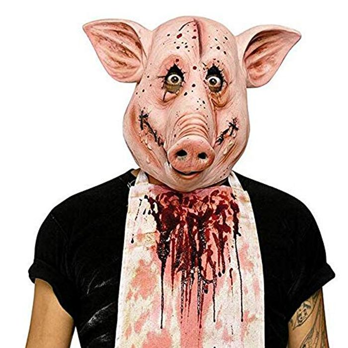 Party Latex Animal Head Mask Pig Head