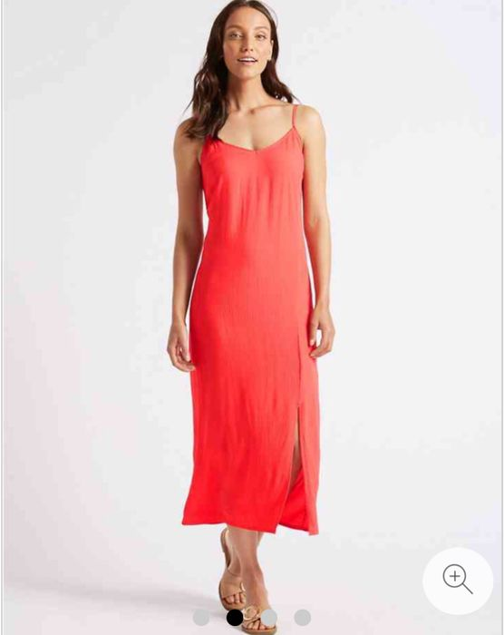 M&S Collection Front Split Slip Midi Dress