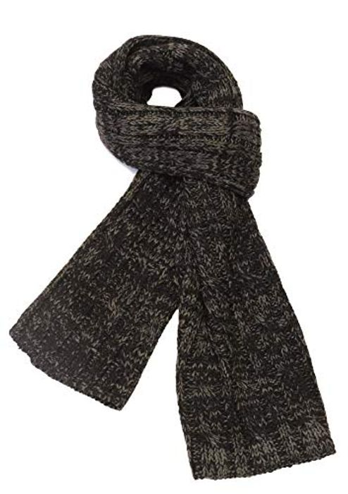 Cable Knitted Scarf for Men Super Soft Cashmere Feel