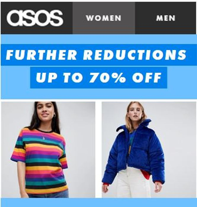 ASOS Further Reductions - up to 70% off NOW!
