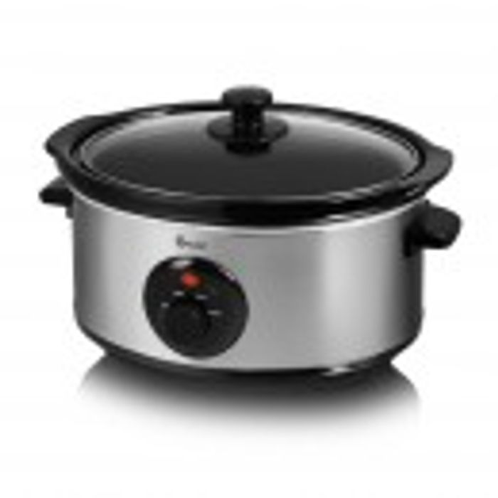 Swan Stainless Steel Slow Cooker - 3.5L Only £14.99