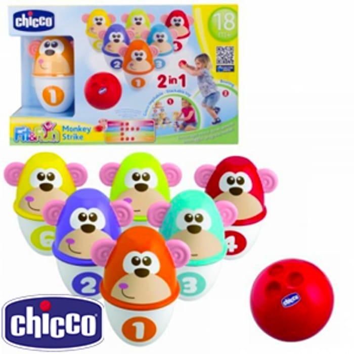 Chicco Fit & Fun Monkey Strike Bowling Set