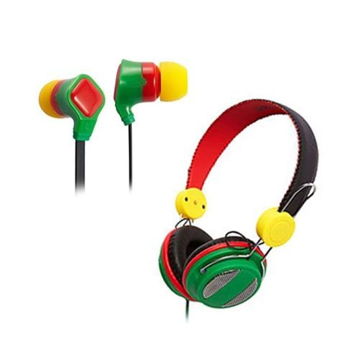 Buy 3 Groov-E Rasta Canz and Rasta Budz Headphone and Only Pay £7.92 (Glitch?)