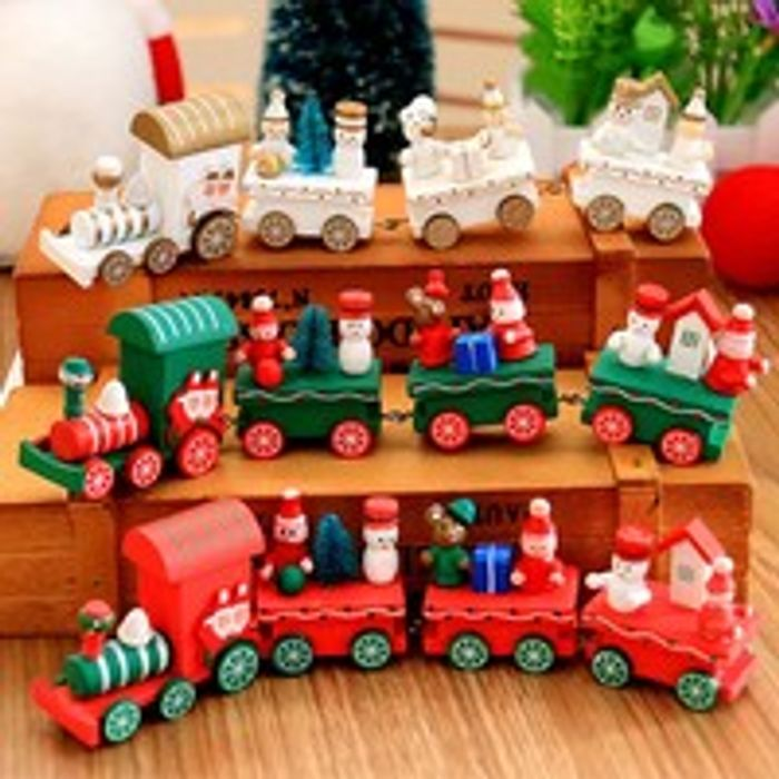 Wooden Train Christmas Ornament