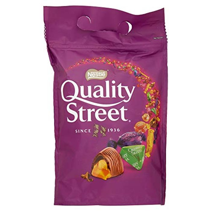 Quality Street Assorted Chocolates Pouch Bag, 500 G (Pack of 8) Amazon Prime