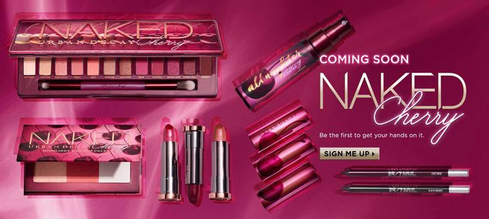 Urban Decay Naked Cherry Launch & Freebies