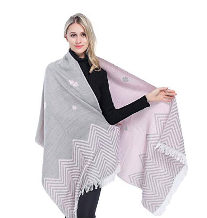 Women's Large Shawl Scarves Double Sided