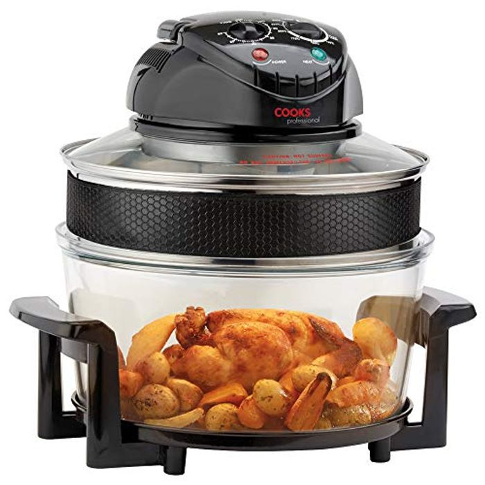 Electric Halogen Oven Air Fryer with Timer & 12 Accesories, 1400W 17L