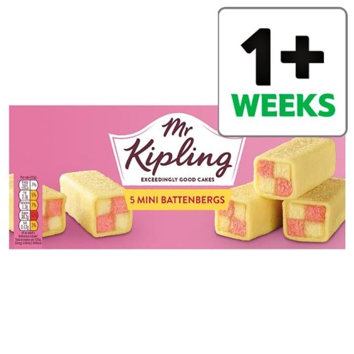 65p off Mr Kipling Mini Battenberg Cakes 5 Pack