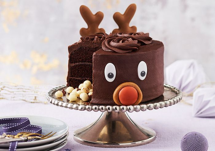 Rudy The Reindeer Hidden Centre Cake By Sainsburys