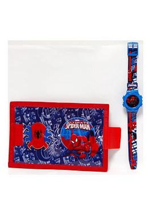 Spiderman Watch and Wallet Childrens Gift Set