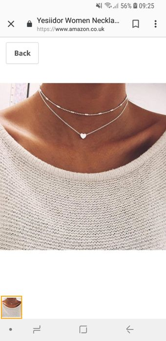 Mutli Layer Necklace with Small Heart Detail