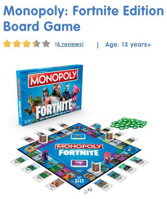 Monopoly Fortnite Edition - IN STOCK AT THE ENTERTAINER FOR HOME DELIVERY