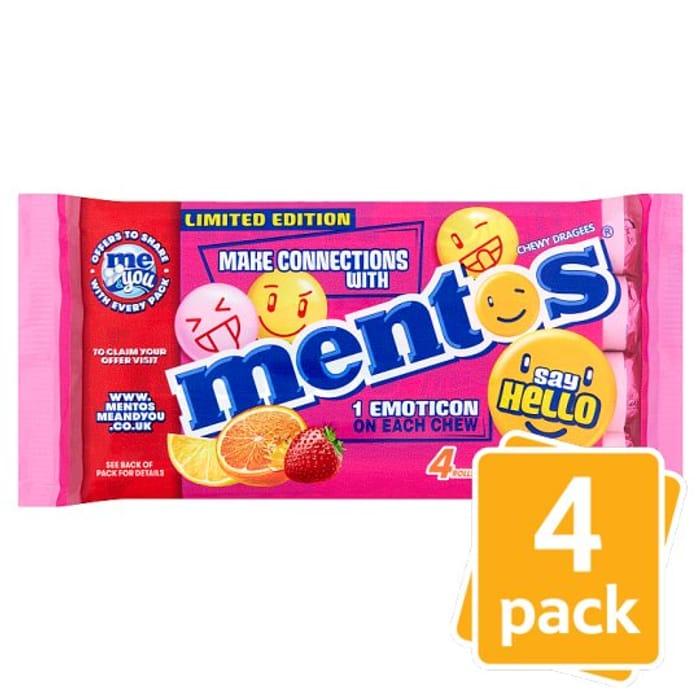 Mentos Fruits 4X38g