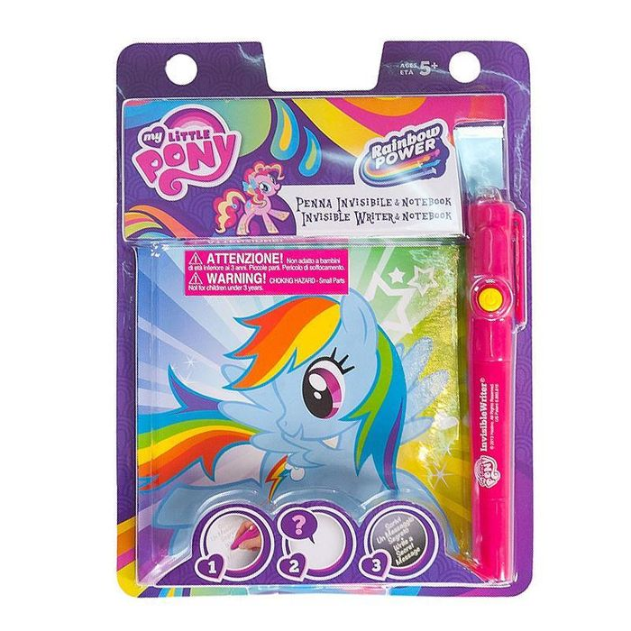 My Little Pony / Barbie Magic Invisible Writer & Notebook Set
