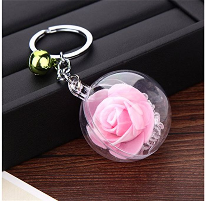 Cute Rose Keyring