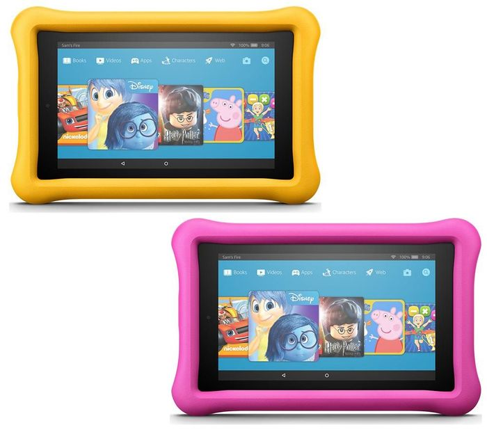 AMAZON Fire 7 Kids Edition Tablets Bundle - 16 GB, Pink & Yellow (2 Tablets)