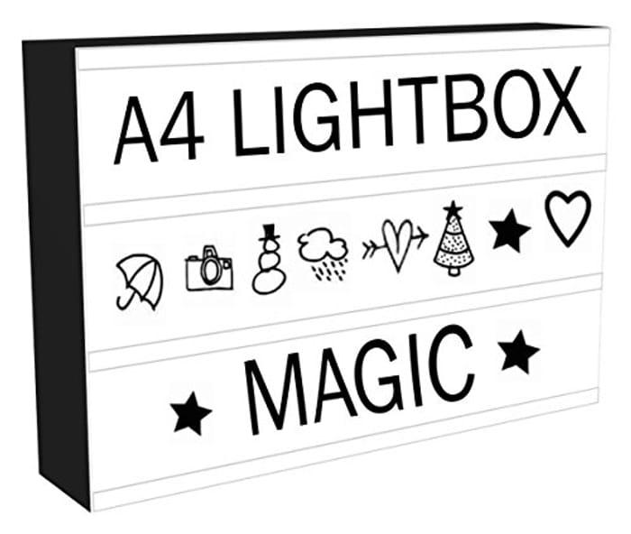 Light Box Cinema LED Sign 96 Letters & Number Emoji Lights