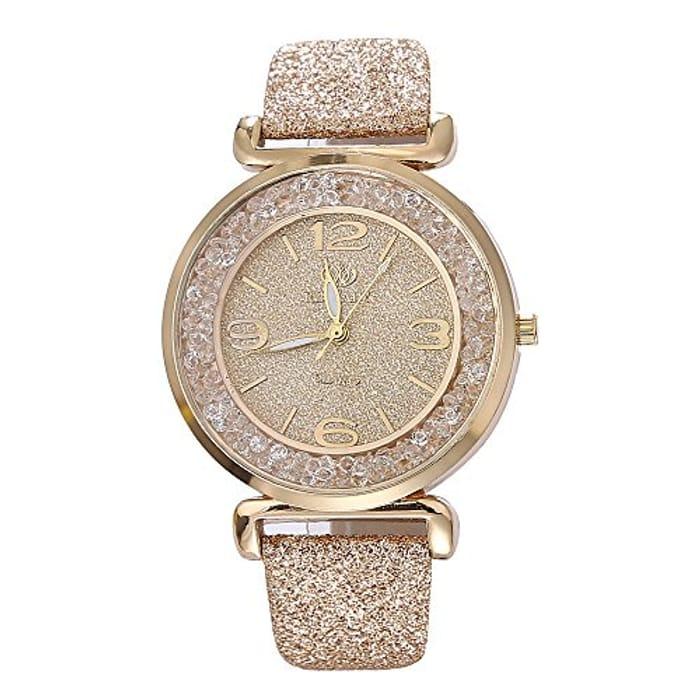 Womens Crystal Quartz Watch