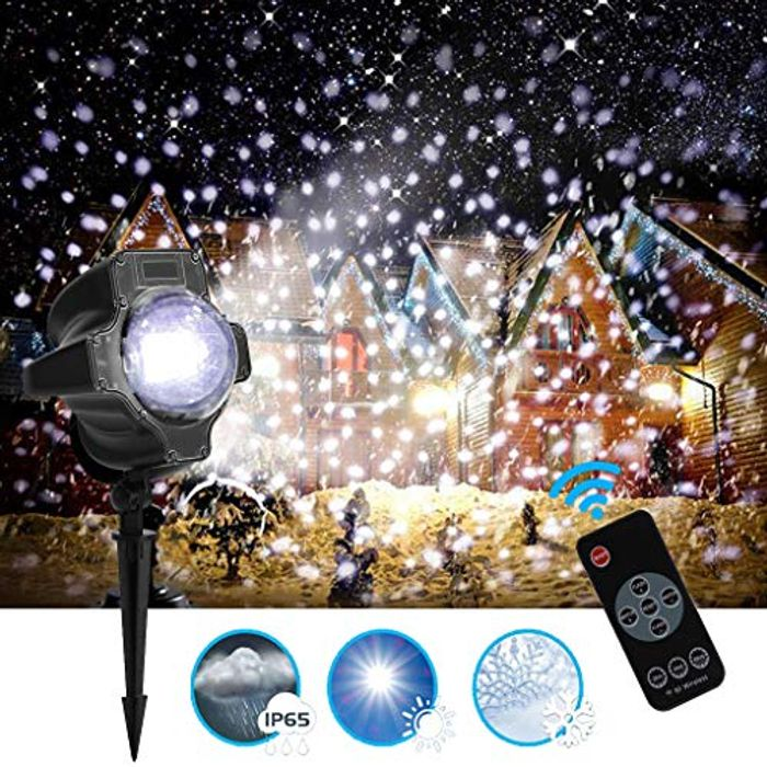 Outdoor LED Projector Light Christmas Snow