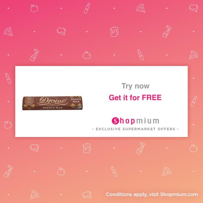 Free Divine Chocolate Bar after Cashback