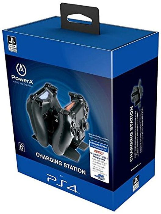 Prime Only - Officially Licensed Mains Powered DualShock 4 Charging Dock