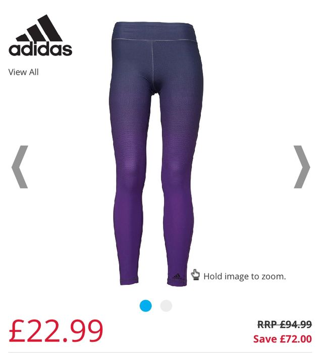 Adidas Womens Miracle Sculpting Slimming Tight Leggings Size 8 up to 22
