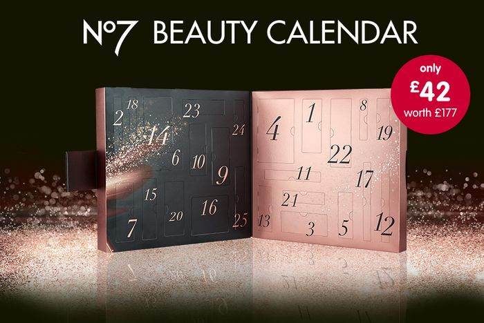£177 of No7 Beauty Products in £42 Advent Calendar. from 19th Oct