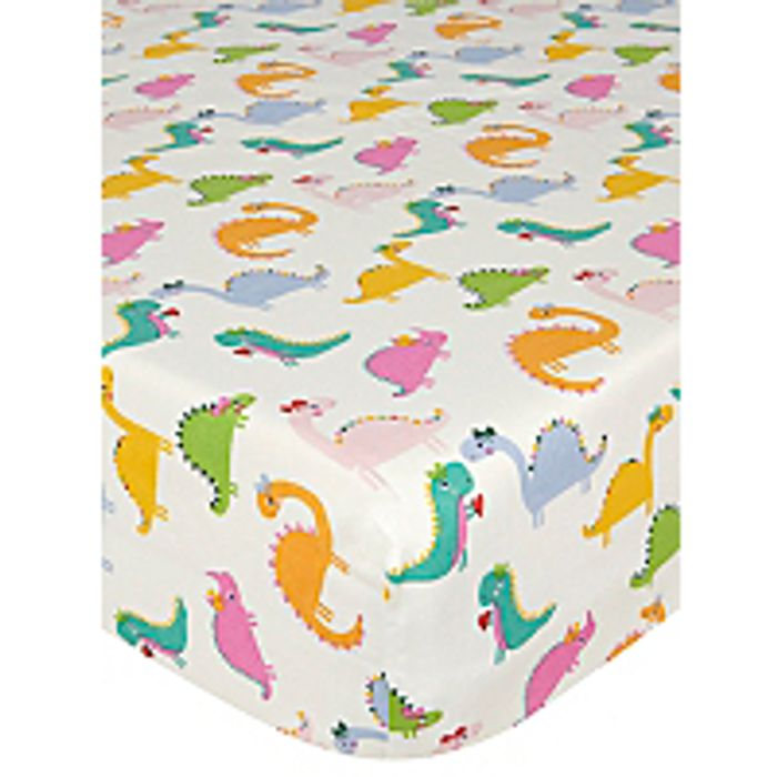 Dinosaur Fitted Sheet - Toddler £5 and 5 STARS - Asda George
