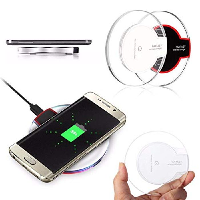 £2.63-Wireless Charger Compatible for iPhone/Samsung