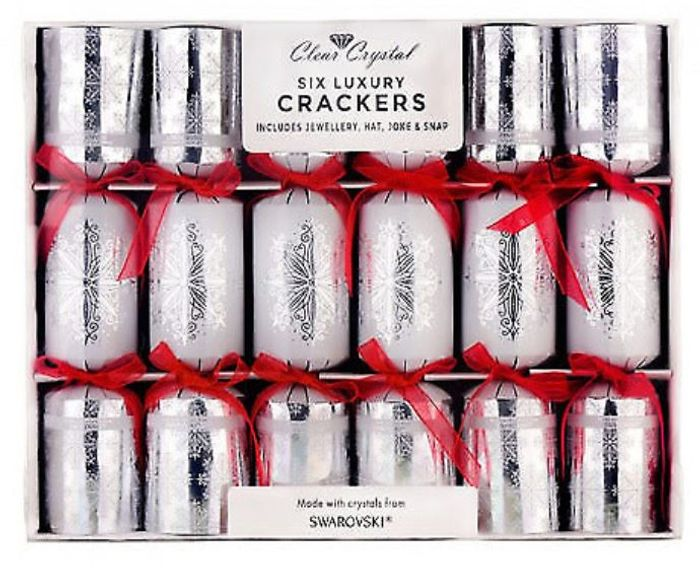 6 Luxury Christmas Crackers Made with Crystals from Swarovski