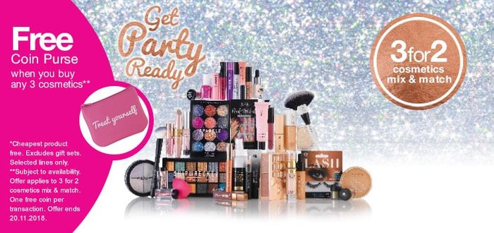 3 for 2 Cosmetics Mix & Match