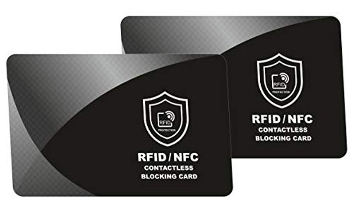 Set of 2 RFID & NFC Credit Card Protectors Shield