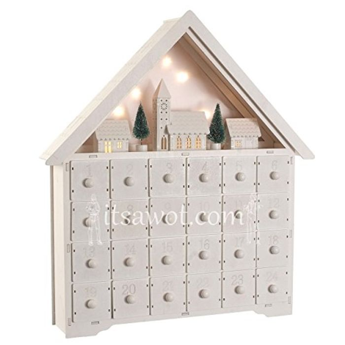 Starry Nights Wooden Advent Calendar With Led Lights 1995 At
