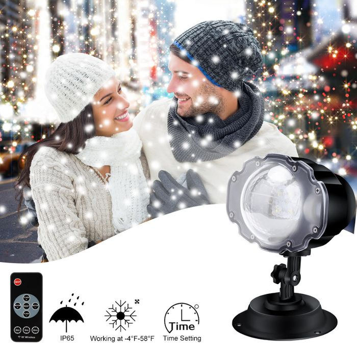 Outdoor Snowflake Christmas Projector 60% Off